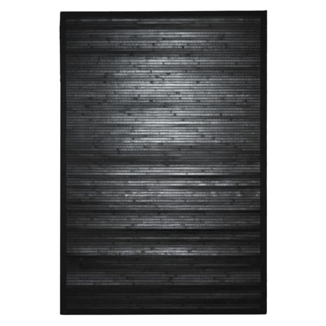 mon beau tapis tapis en bambou larges lattes et ganse noir 110x70cm solo bamboo pas cher. Black Bedroom Furniture Sets. Home Design Ideas