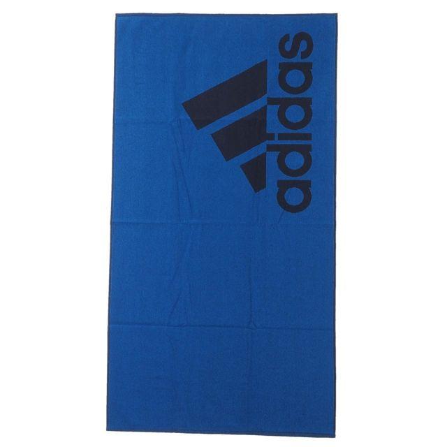 Serviette De Plage Adidas.Adidas Serviette De Bain Drap De Plage Towel L Blue Bleu