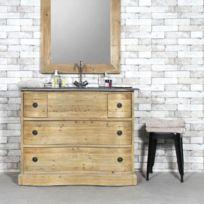made in meubles meuble salle de bain 1 vasque authentiq en vieux pin kh06