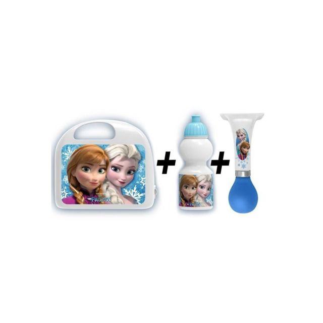 Disney La Reine Des Neiges Combo boîte a gouter + bidon + klaxon