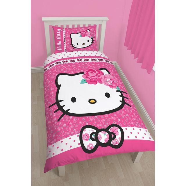Character World Parure de lit reversible Hello Kitty Sommerwind