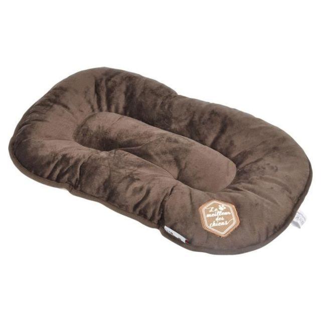 CORBEILLE - PANIER - COUSSIN - HAMAC - LIT Coussin flocon Patchy - 61 cm - Coloris : chocolat et taupe - Pour chien
