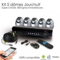 SecuriteGOODdeal - Kit de vidéosurveillance 5 dômes 600 lignes Cmos