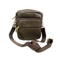 26887e08ee Chaussmaro - Petit sac sacoche homme en bandouliere porte epaule cuir de  Vachette 13x12cm