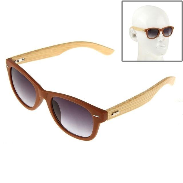 Wewoo - Pour des sports en plein marron air Lunettes de soleil de lentille  en bois 25a7131b0531
