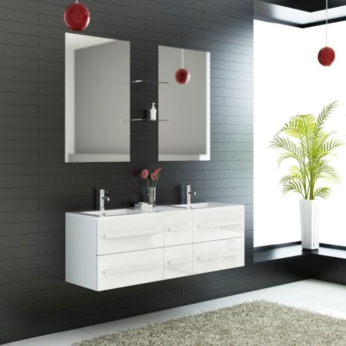 Import&DIFFUSION - Ensemble complet meuble salle de bain Eval 2 ...