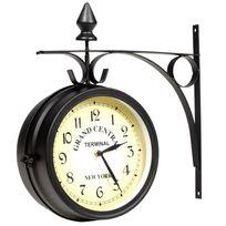 Vimeu-Outillage - Horloge de gare retro double face New York