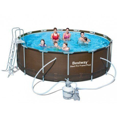 Bestway piscine tubulaire ronde imitation tress avec filtre sable pas cher achat vente - Filtre a sable piscine pas cher ...