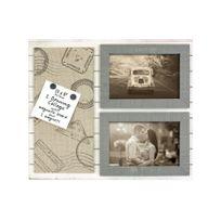 Zep - Cadre Photo avec Mémo magnétique Beige/Noir 10 x 15 cm Alizée