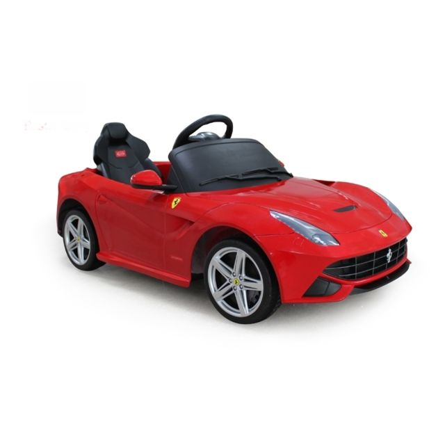 ferrari v hicule lectrique f12 rouge pas cher achat vente v hicule lectrique pour enfant. Black Bedroom Furniture Sets. Home Design Ideas