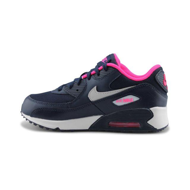 new products 61f5d 4007c Nike - Air Max 90 Mesh Enfant Bleu 724856-400 - pas cher Achat   Vente Baskets  enfant - RueDuCommerce