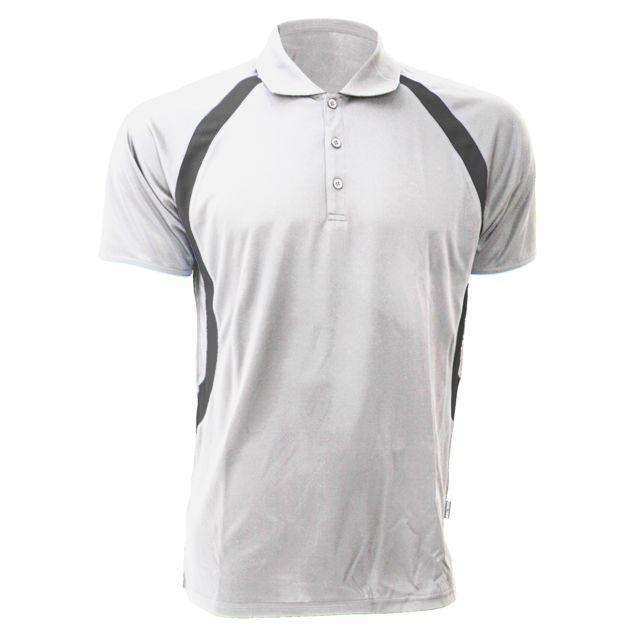 GAMEGEAR Polo ® Cooltex® Riviera pour homme 2XL, Blanc/Gris Utbc434