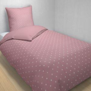 tex home parure housse de couette etoile 1 taie d 39 oreiller en coton 140cm x 200cm pas cher. Black Bedroom Furniture Sets. Home Design Ideas