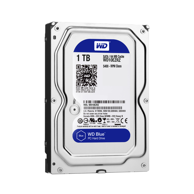 Disque dur interne WD Blue 1 To 3.5'' SATA III 6 Gb/s Cache 64 Mo Western Digital