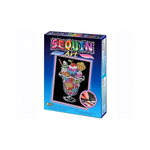 Sequin Art Blue Ice Cream Sundae Sparkling Arts and Crafts Picture Kit Creative Crafts