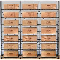 L'ATELIER Du Vin - Solution de rangement pour 21 caisses de vins - Noir Aci-adv910x3