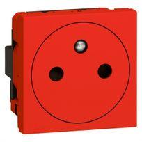 Legrand - prise de courant 2p+t à puits rouge mosaic antimicrobien