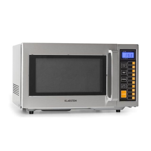 KLARSTEIN Pro Bestzeit 25 Four micro-ondes 25 litres 1000W - 3 niveaux de puissance - Ecran LCD - Minuterie - Inox