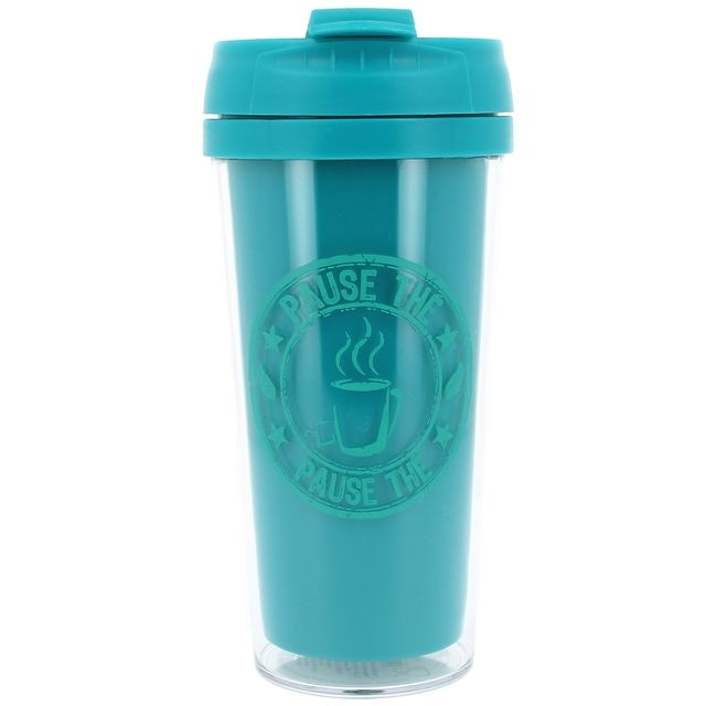 Promobo Mug Isotherme à transporter Américain Cup Of Tea Bleu