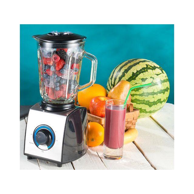 Rosenstein & SÖHNE - Mixeur-blender électrique 600 W / 1,5 L - avec Ice Crush