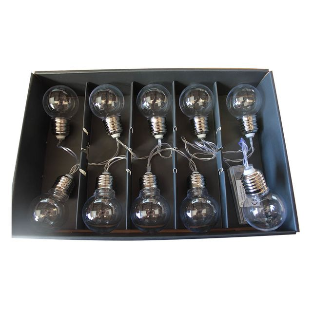 atmosphera guirlande lumineuse 10 ampoules led piles pas cher achat vente guirlandes. Black Bedroom Furniture Sets. Home Design Ideas
