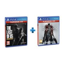 SONY - 2 jeux PS4 HITS : THE LAST OF US REMASTERED + BLOODBORNE