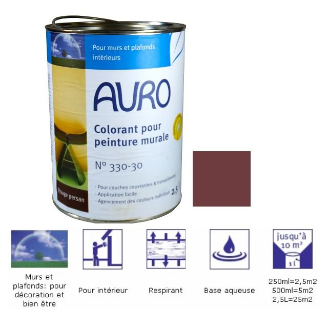 Auro Colorant Pour Peinture Murale Teinte Rouge Persan
