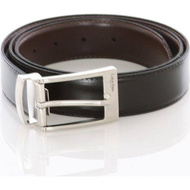 806201fa0ac5 Calvin Klein - Original - ceinture cuir 125 cm noir neuf n1 Reversible avec  Boite Cadeau - pas cher Achat   Vente Ceinture homme - RueDuCommerce