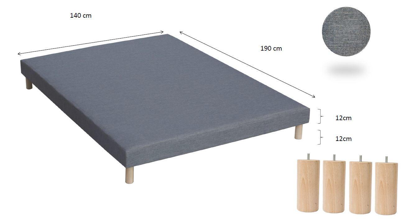lovea ensemble matelas ressort 7 zones m moire de forme 2 sommiers 80x200 king. Black Bedroom Furniture Sets. Home Design Ideas