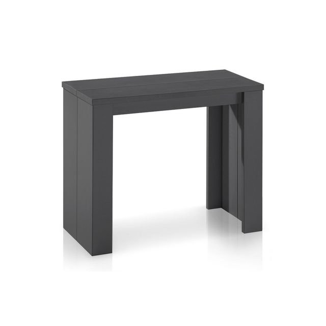 cote cosy table console extensible gris mat simply rallonges with console extensible avec. Black Bedroom Furniture Sets. Home Design Ideas