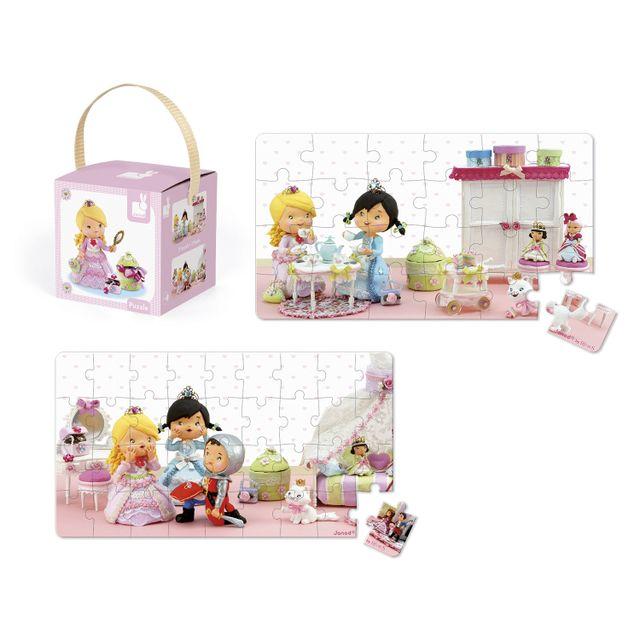 JANOD Puzzle 24 et 36 pièces : Lovely puzzle Rose joue à la princesse