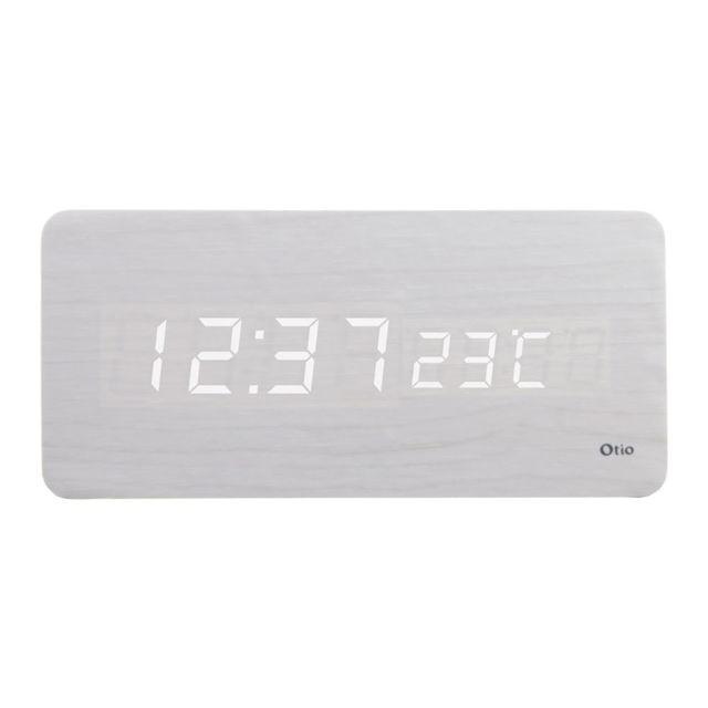 Thermomètre lingot finition effet bois blanc cérusé