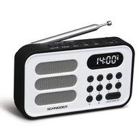 Schneider - Sc150ACLWHT Radio Portable Handy Mini - Blanc
