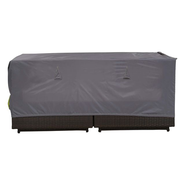 oviala housse de salon de jardin canap 2 places gris. Black Bedroom Furniture Sets. Home Design Ideas