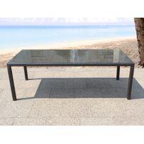 Beliani - Table de jardin en rotin 160 cm - Italy
