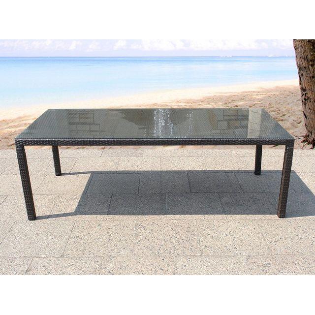 Beliani Table de jardin en rotin 160 cm - Italy
