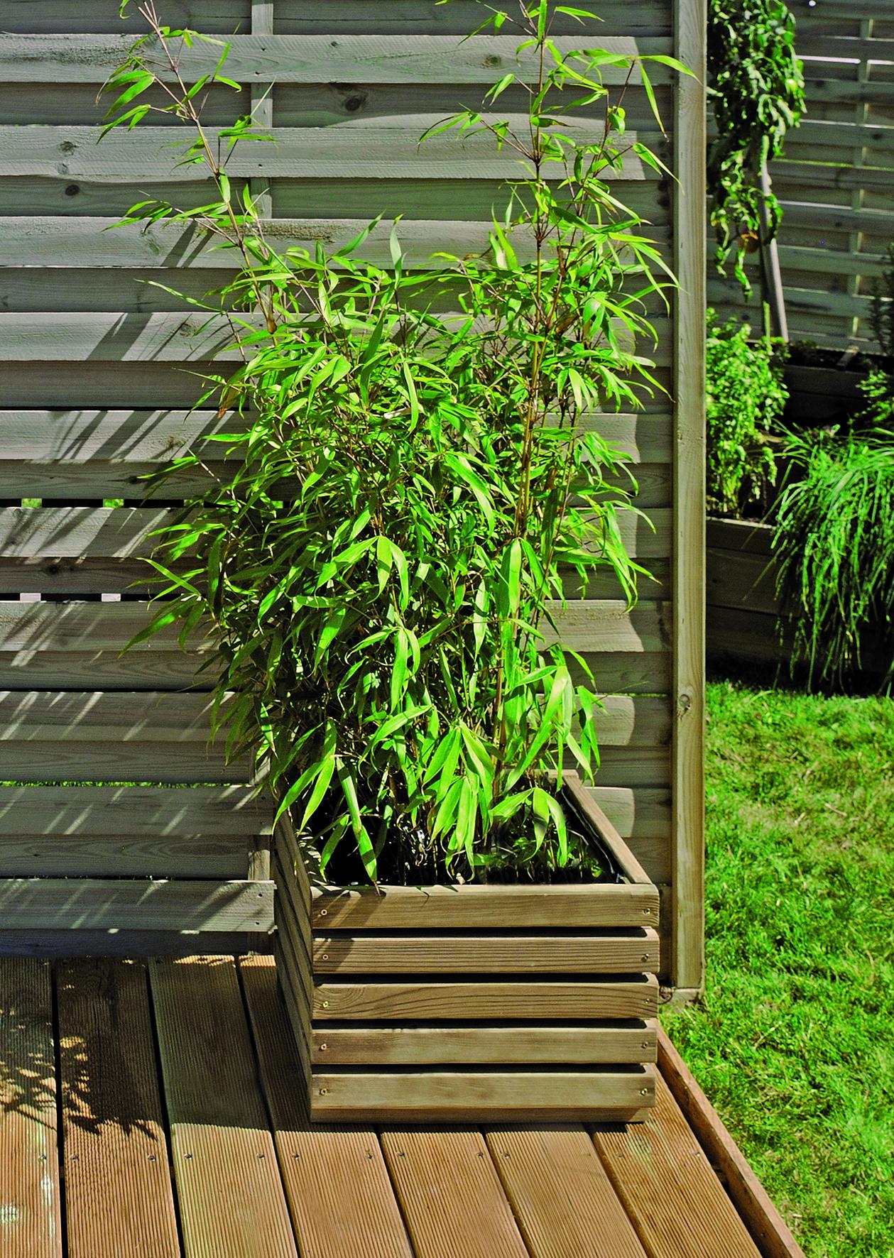 Bac à fleurs KÜB 40 carré - 30 L.