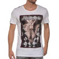 Religion clothing - Tee-shirt blanc et noir imprimé photo