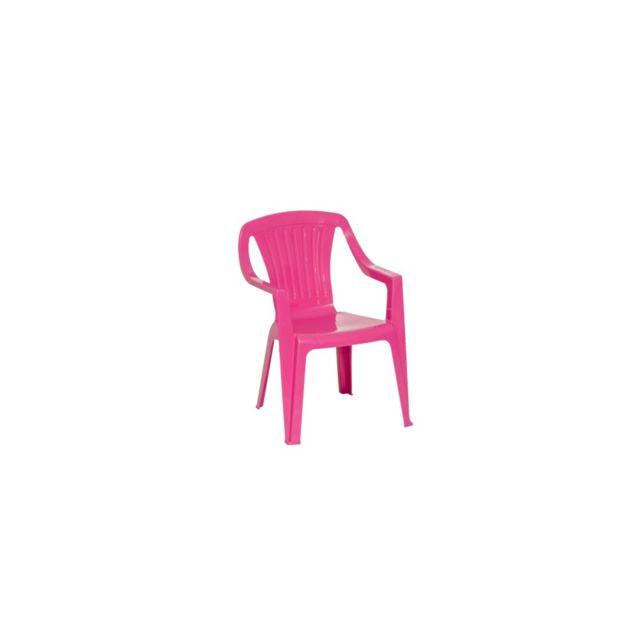 Chaise Tonga L. 37 x l. 36 x H. 53 cm rose. Dimensions : L. 37 x l. 36 x H. 53 cm. Structure en résine Pvc. Coloris vert