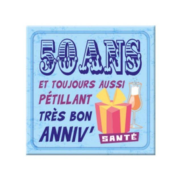 Marque Generique Plaque Message Anniversaire 50 Ans Pas Cher