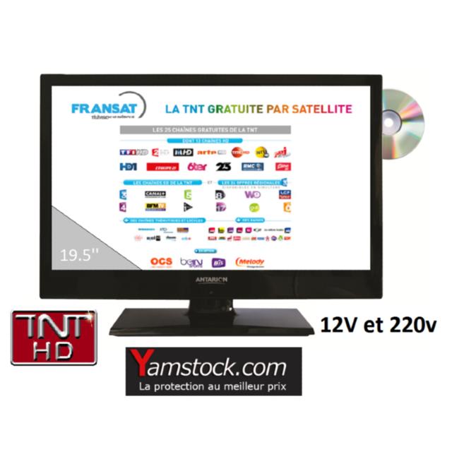 Antarion - télévision Tv Hd + Dvd 19.5 + démo satellite Fransat camping car