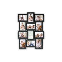 Zep - Cadre Multi Vues pour 12 Photos Résine Noir