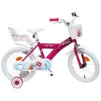 """Disney - Vélo 16"""" Licence """"Princesse"""" pour enfant de 4 à 6 ans avec stabilisateurs à molettes"""