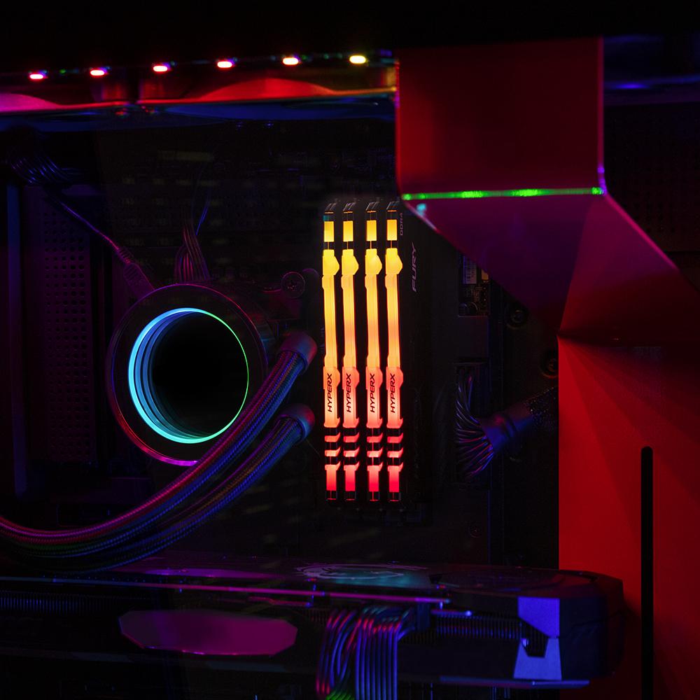Effets lumineux RGB personnalisables dans un style agressif