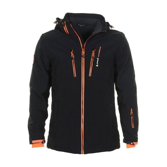 peak mountain blouson de ski homme canada noir orange xl pas cher achat vente blouson de. Black Bedroom Furniture Sets. Home Design Ideas