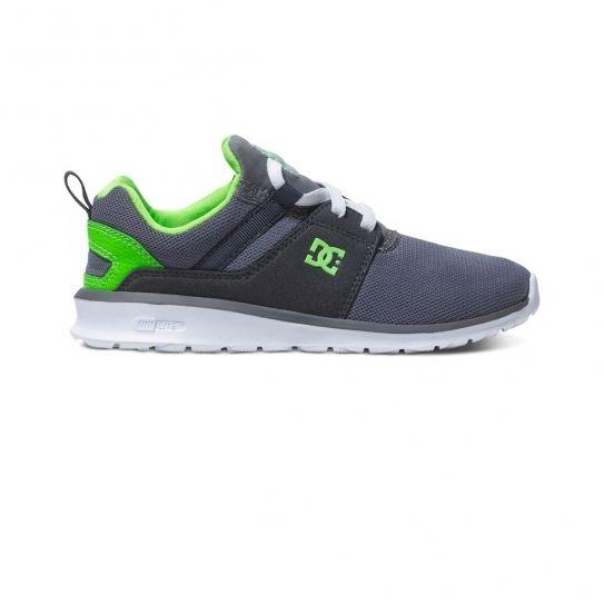 f3ce068905350 Dc - Chaussures Heathrow Mesh Grey Green Jr e16 - Shoes - pas cher Achat    Vente Baskets enfant - RueDuCommerce