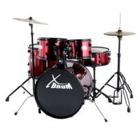 "Xdrum - Rookie 20"" Studio Set de Batterie complet rouge rubie"