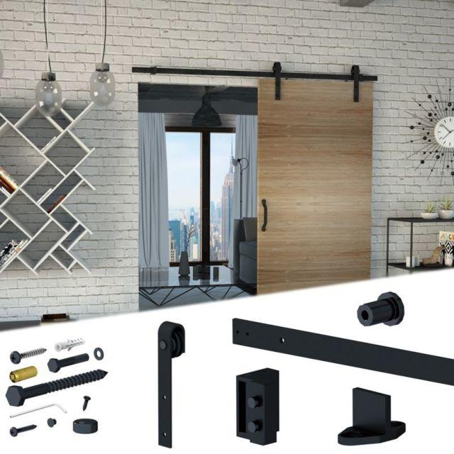 slid 39 up by mantion syst me coulissant slid 39 up 240 barn door pour 1 porte de s paration rail. Black Bedroom Furniture Sets. Home Design Ideas