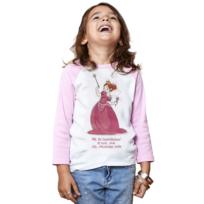 Rigolobo - T-shirt Princesse blanc/rose 'Je suis une fée-princesse-star' 8-10 ans signé Nathalie Jomard