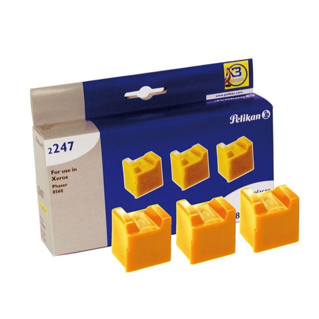 PELIKAN Pack de 3 cartouches d'encre solides pour Xerox Phaser 8560 108R00723 Jaune - 3000 pages
